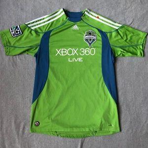 Boys XL Adidas Seattle Sounders jersey Shirt